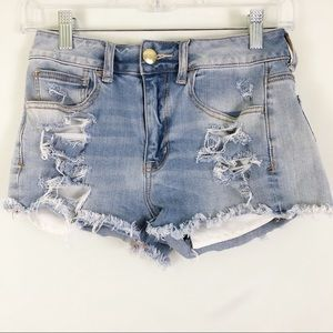 American Eagle Destroyed Cut off Jean Shorts Sz 2